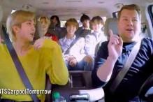 """BTS Eğlenceli """"Carpool Karaoke"""" Fragmanında James Corden İle Birlikte"""